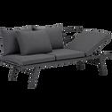 Canapé de jardin convertible méridienne gris anthracite-Olcio