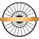 Corbeille à fruits en métal noir avec poignée en bois D21cm-PAIS