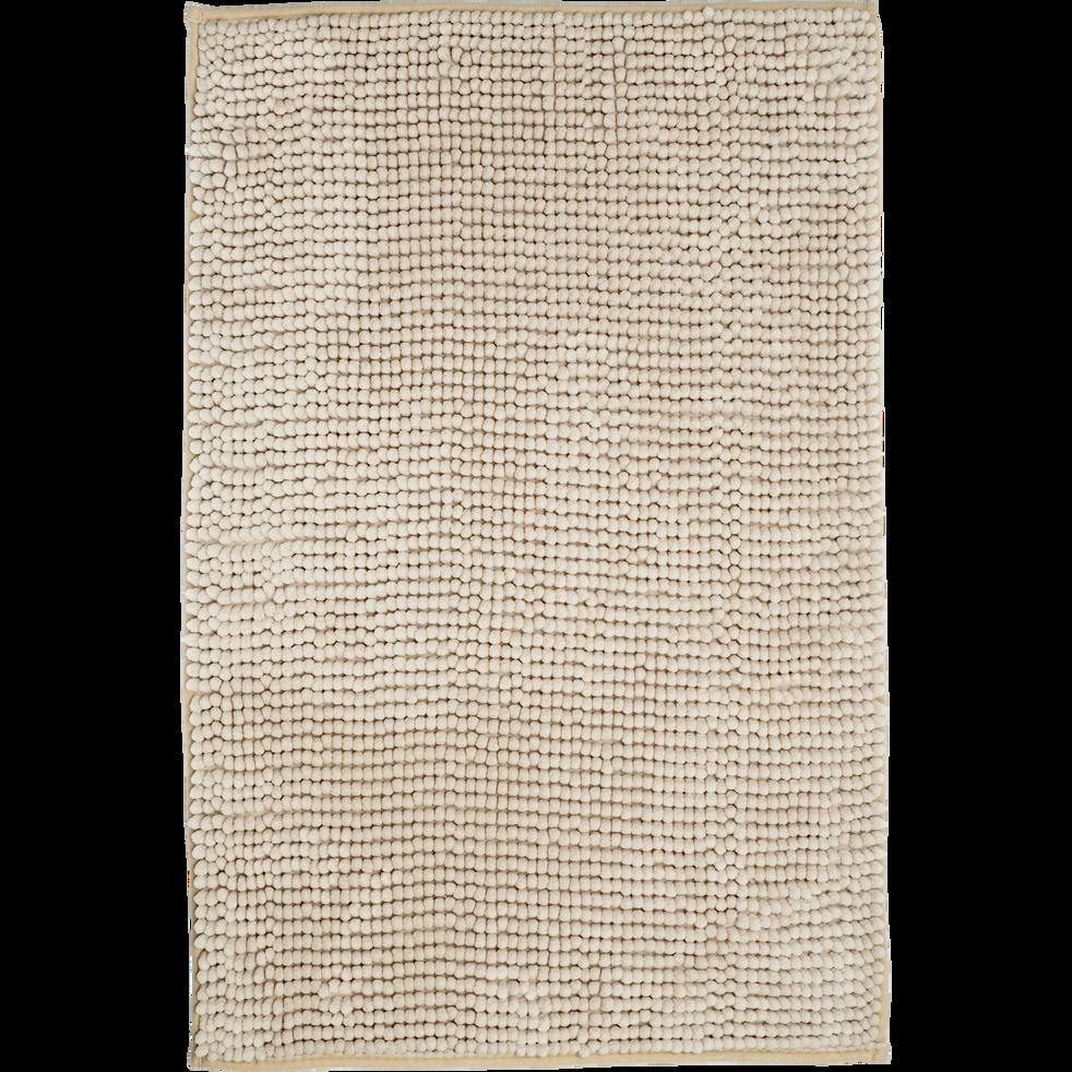 Tapis de bain polyester 50x80cm beige roucas-PICUS