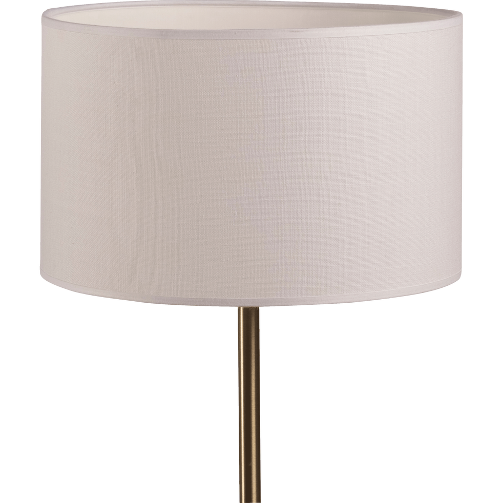 Abat-jour en tissu blanc capelan D30cm-MISTRAL