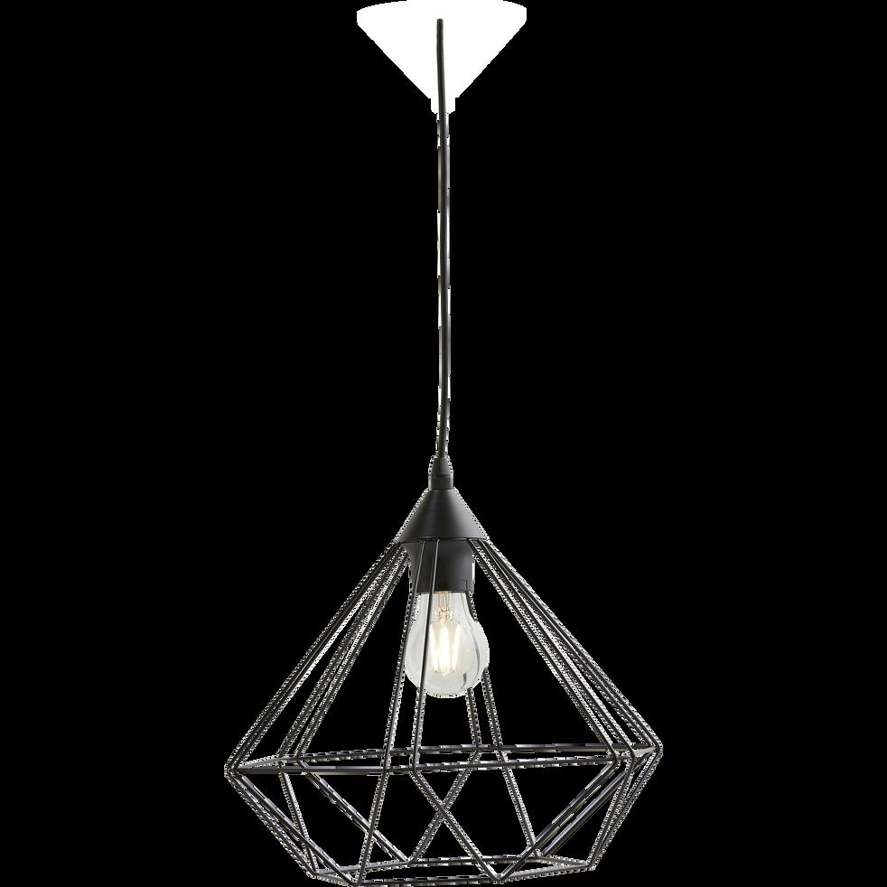 Suspension géométrique en métal noir D32,5cm-TARBES