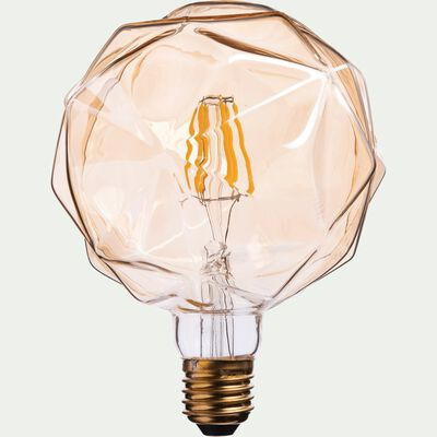 Ampoule décorative LED D12,5cm culot E27-FACETTE