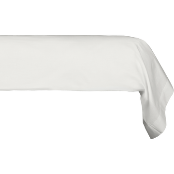 Taie de traversin en coton Blanc capelan 43x125cm-CALANQUES