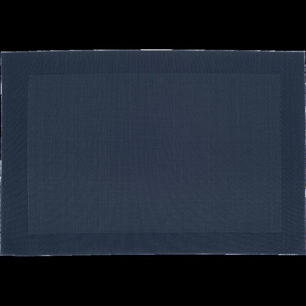 set de table bleu marine 36x48cm vinyl sets et chemins de table alinea. Black Bedroom Furniture Sets. Home Design Ideas