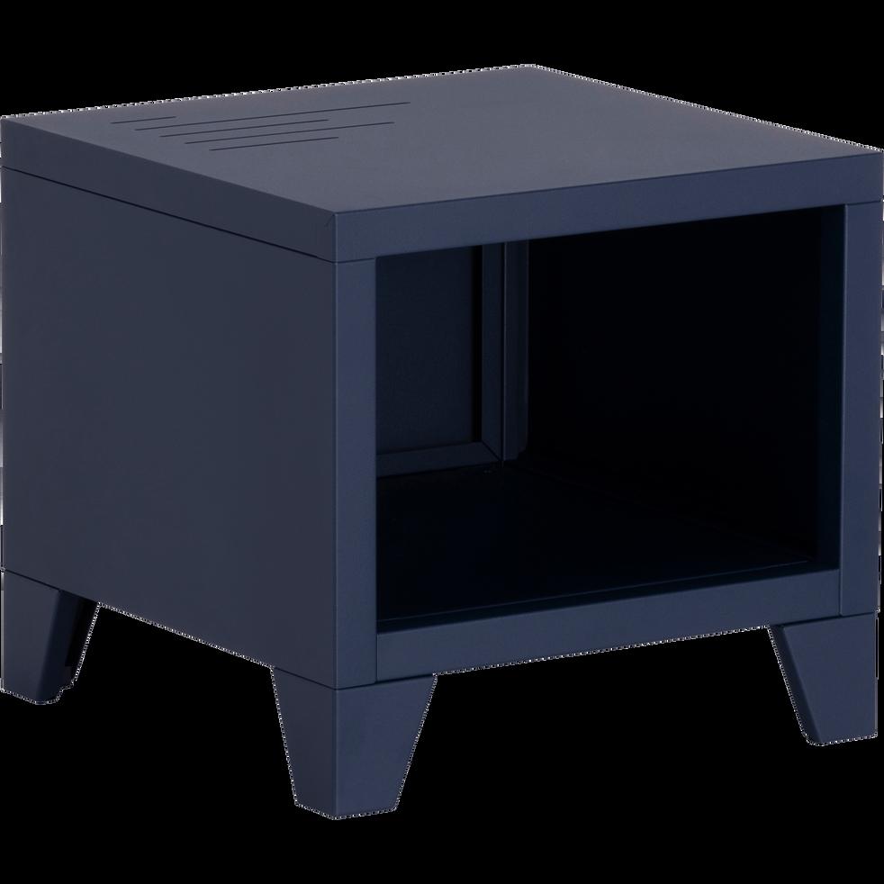 Table de chevet en métal bleue myrte-LOFTER