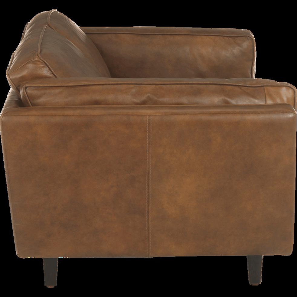 Canapé 2 places fixe en cuir de vachette-BROOKLYN