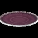 Assiette à dessert en grès violet D21cm-COROLLE