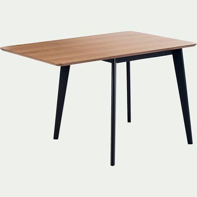 Table de repas extensible plaquée chêne - 2 à 4 places-LIVINO