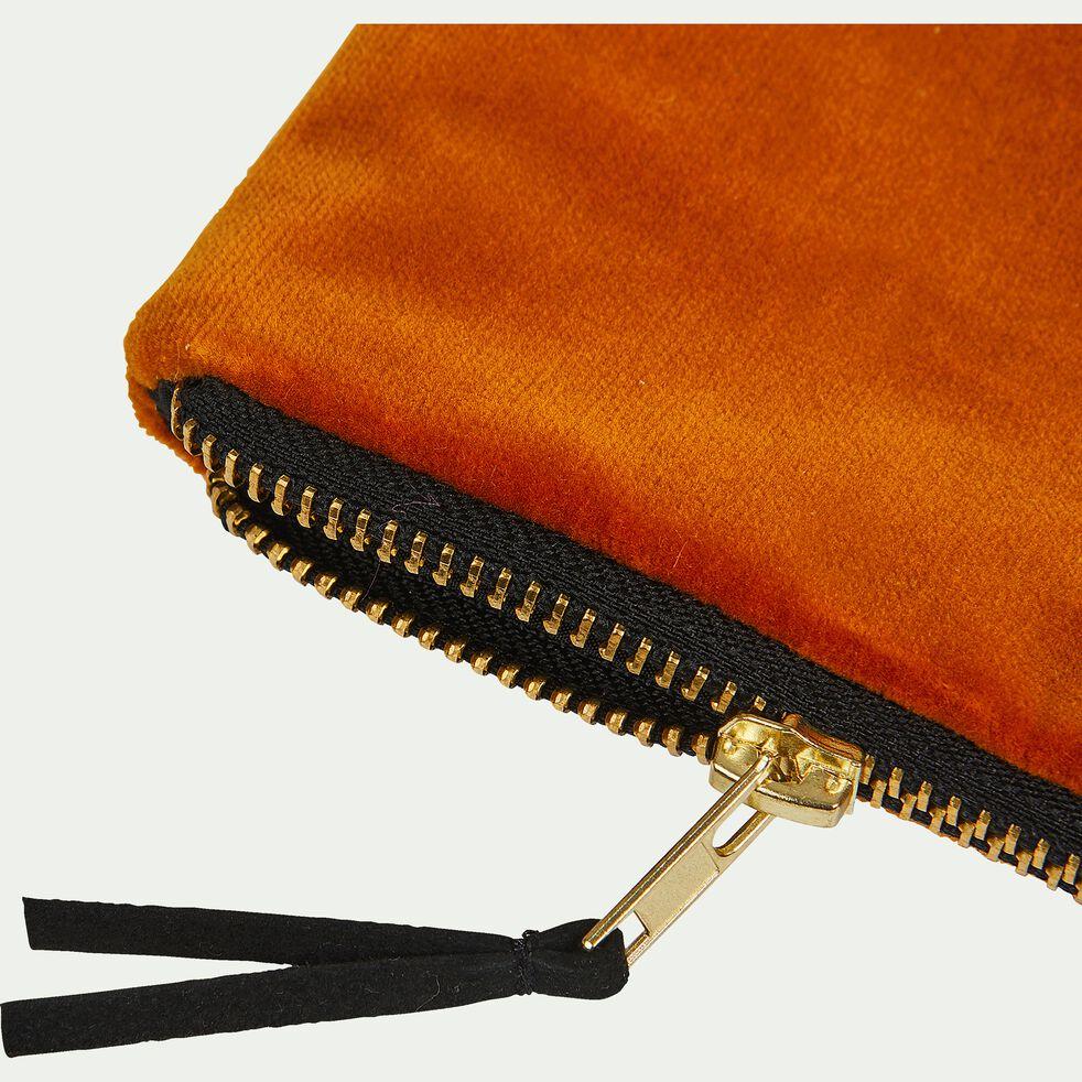 Pochette en coton - orange 16,5x21cm-ELOI