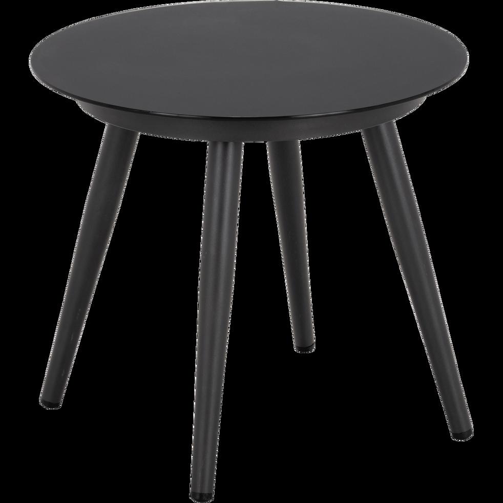 table de jardin en aluminium gris anthracite padoue. Black Bedroom Furniture Sets. Home Design Ideas