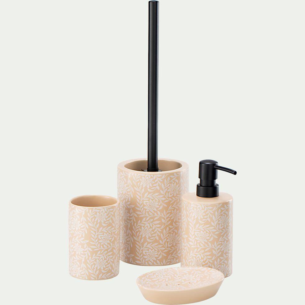 Distributeur de savon en grès - beige H17,5cm-GENET