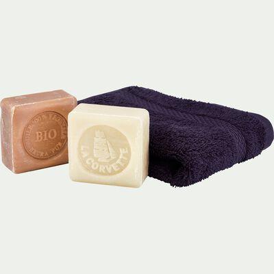 Coffret de 2 savons bio et une serviette invité-NINON