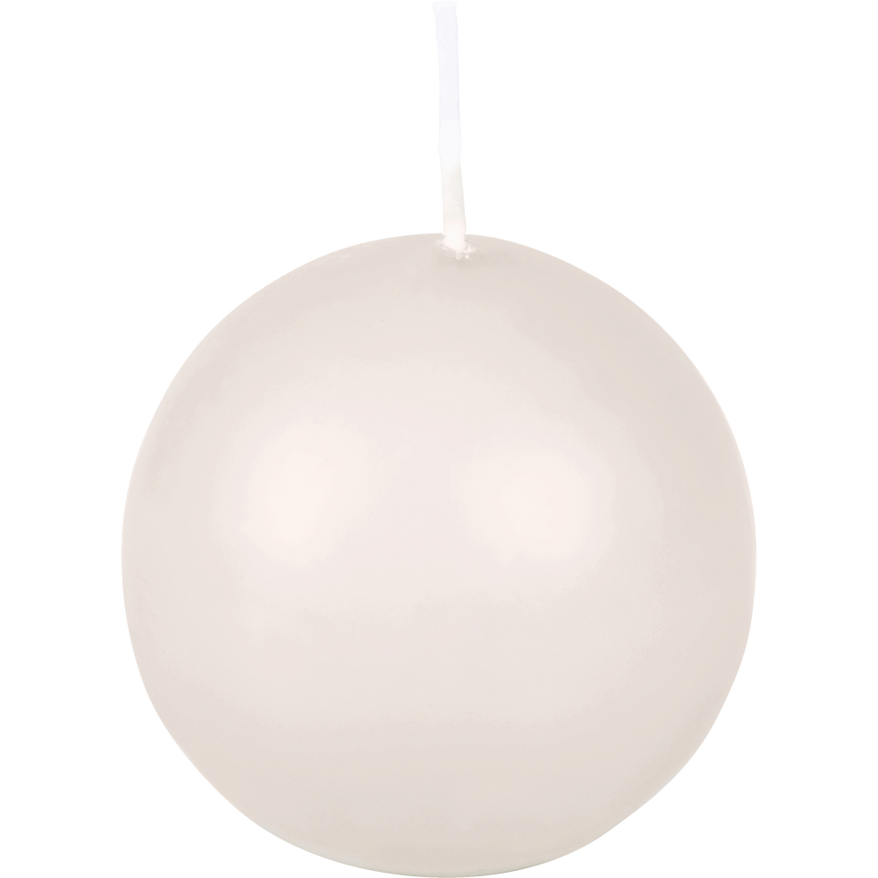 Bougie ronde blanc nougat D6cm-HALBA