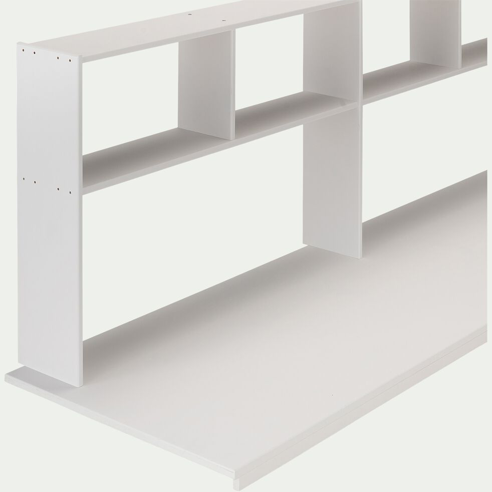 Bureau étagère en pin - blanc-DANIS