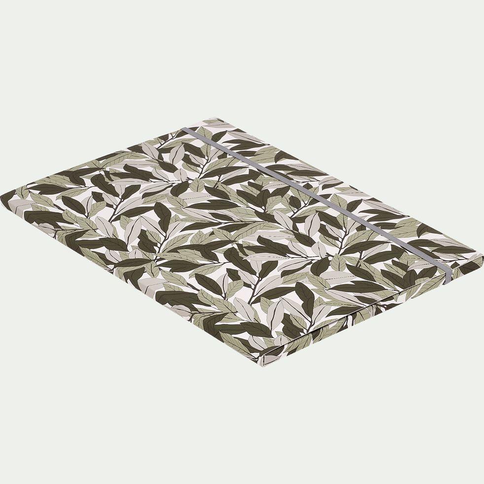 Pochette à rabat motifs Laurier 32x23cm-LAURIER