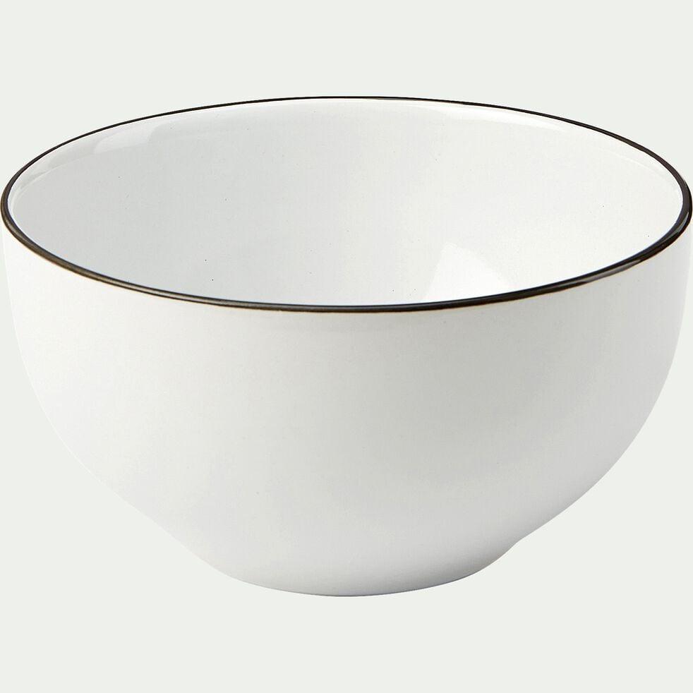 Bol en grès D14,3cm - blanc-ANNE