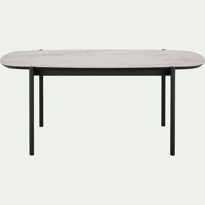 Table de repas en céramique effet marbre - 8 places-MIRABEAU