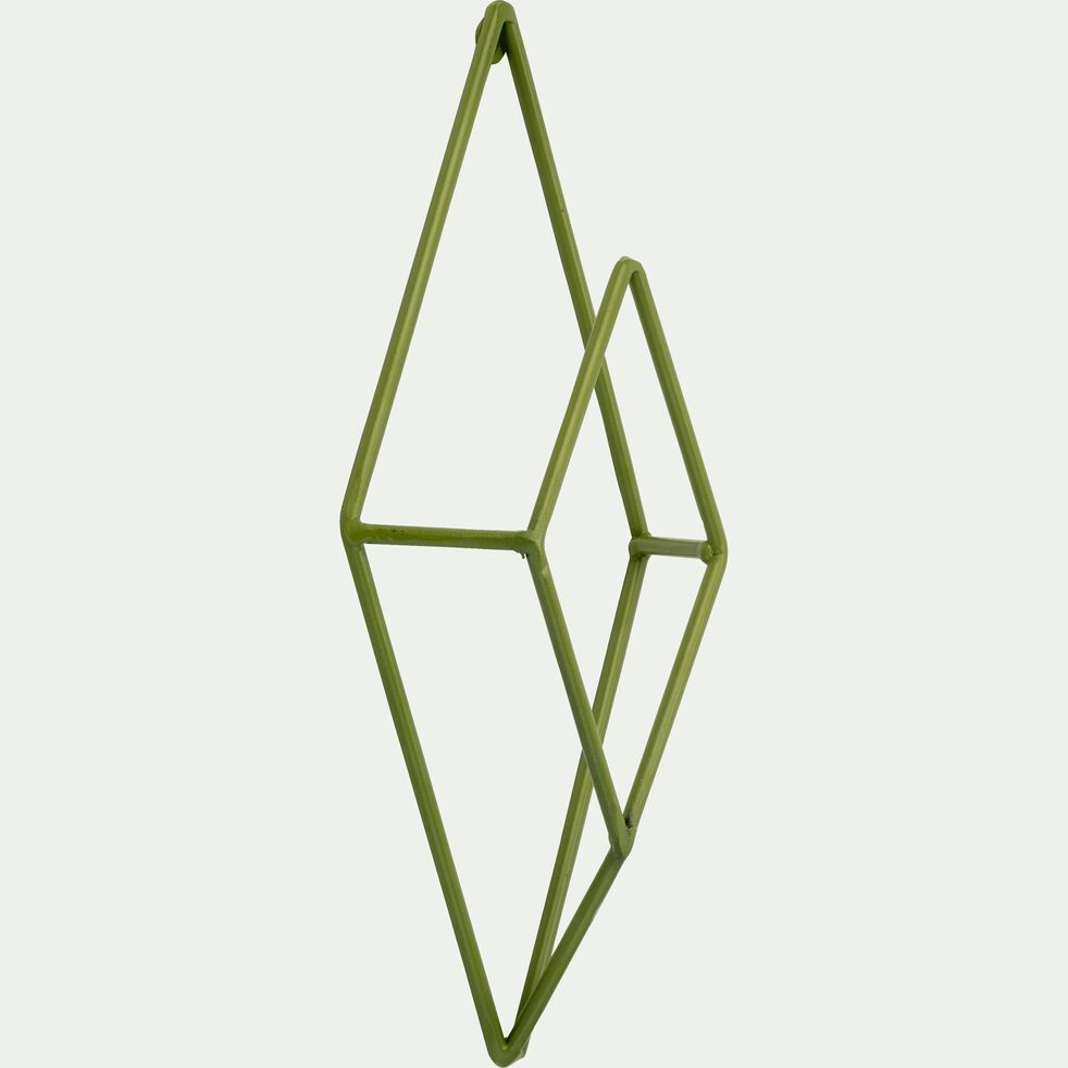 Patère en métal vert 1 emplacement L11xl4xH24cm-PACHA