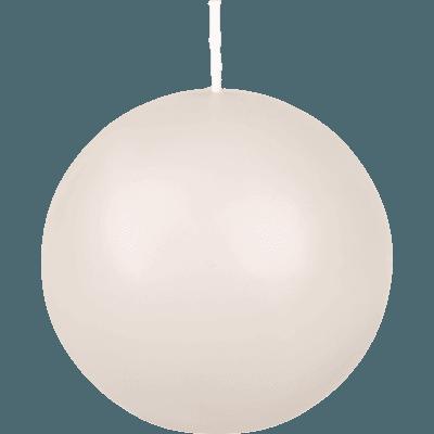 Bougie boule blanc nougat-HALBA