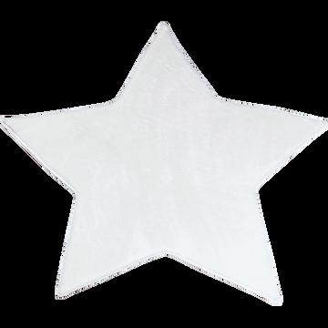 Tapis enfant vert pastel en forme d'étoile D100cm-SWEET