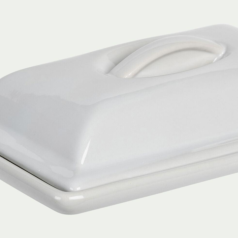 Terrine en grès blanc rectangulaire 20x12cm 0,50CL-REGUE
