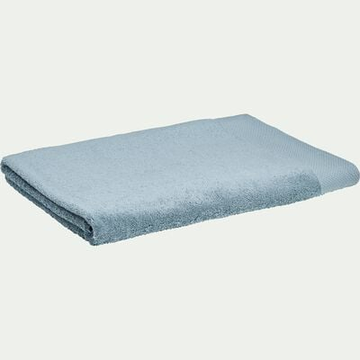 Drap de bain en coton peigné - bleu calaluna 100x150cm-AZUR