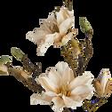 Fleur de magnolia artificielle H86cm-MAGNOLIA