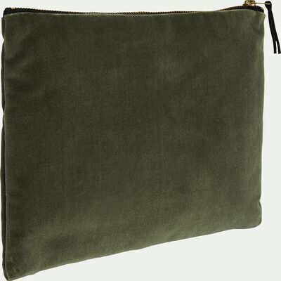 Pochette en coton vert 27x20cm-HANOI