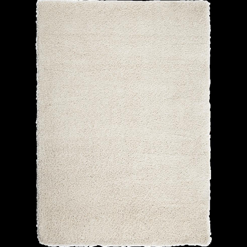 Tapis à poils longs blanc écru 120x170cm-Kris