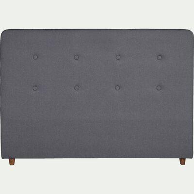 Tête de lit en bois pour lit L140cm - gris anthracite-FLO