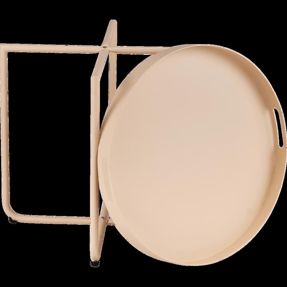 Table basse acier beige roucas-CLEMENCE
