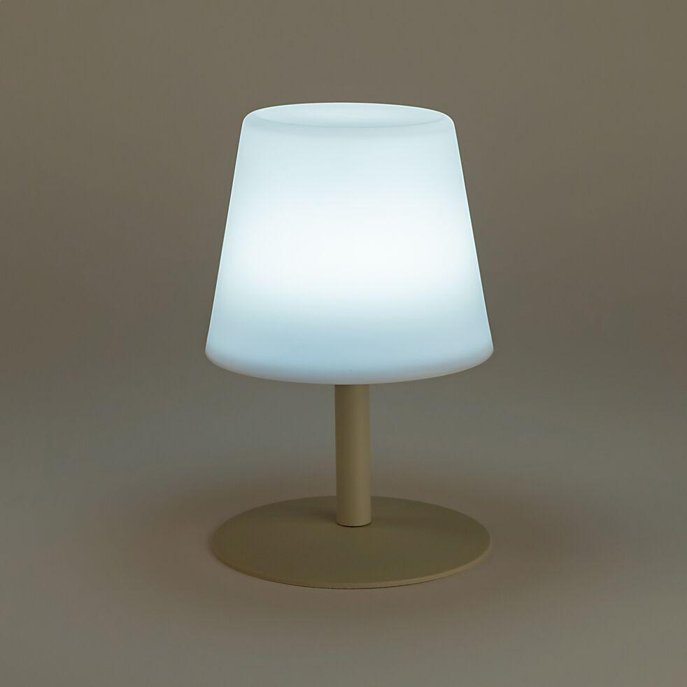 Lampe à poser avec batterie - beige H25xD16cm-MUGEL