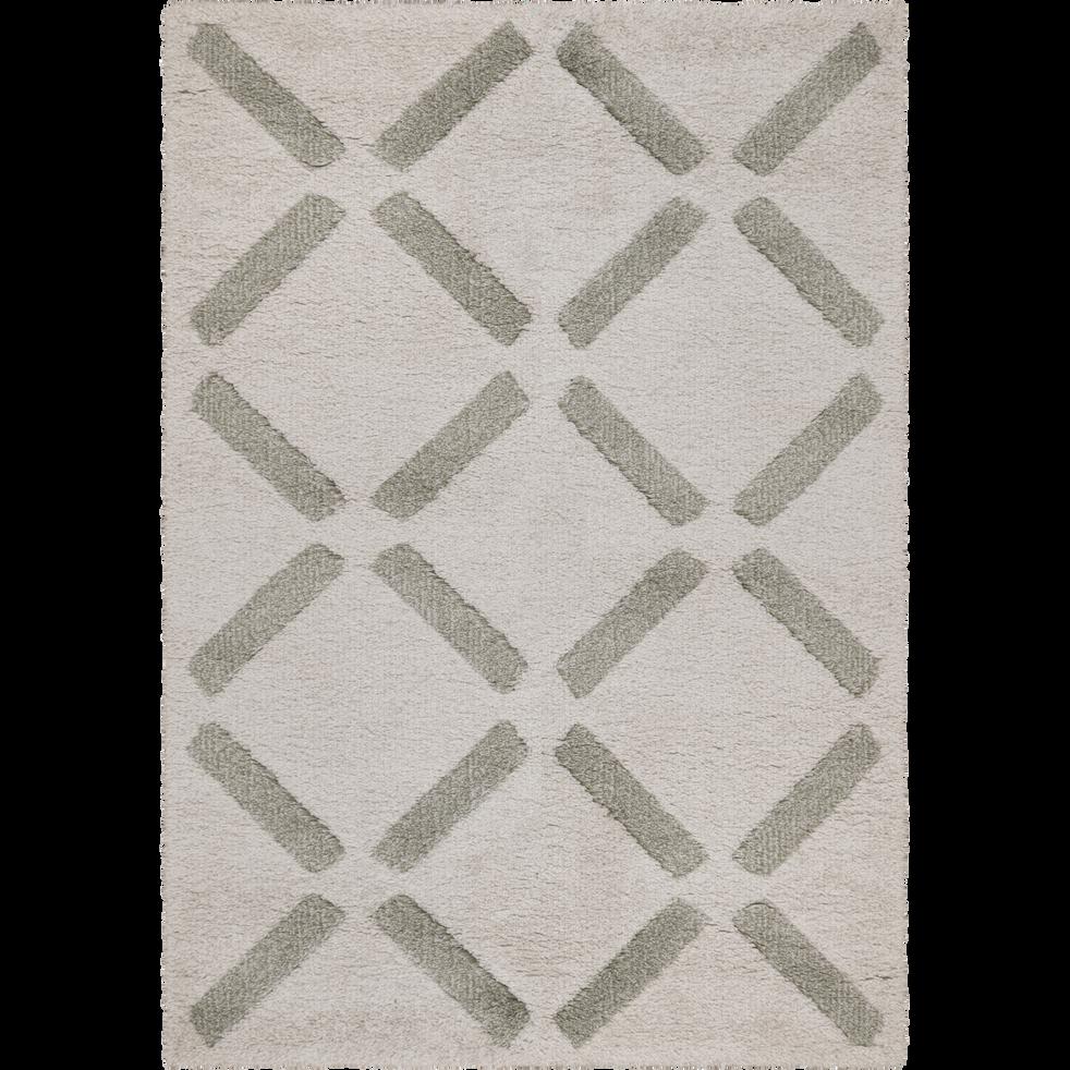 Tapis à poils courts beige 120x170cm-LEA