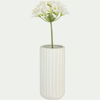 Vase en grès blanc H20cm-Agia
