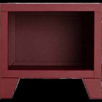 Table de chevet en métal rouge sumac-LOFTER
