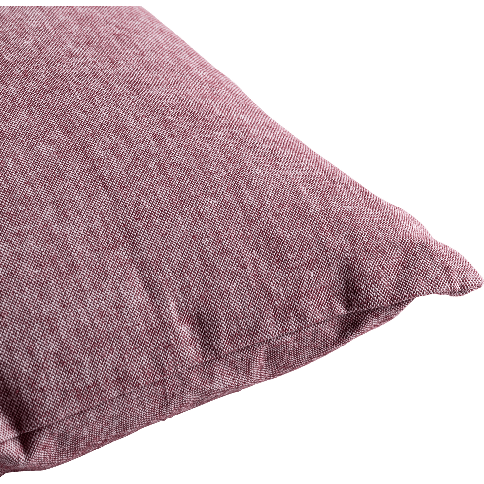 Coussin chambray rouge sumac 40x60cm-CORBIERE