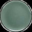 Assiette plate en faïence bleue D27cm-LANKA