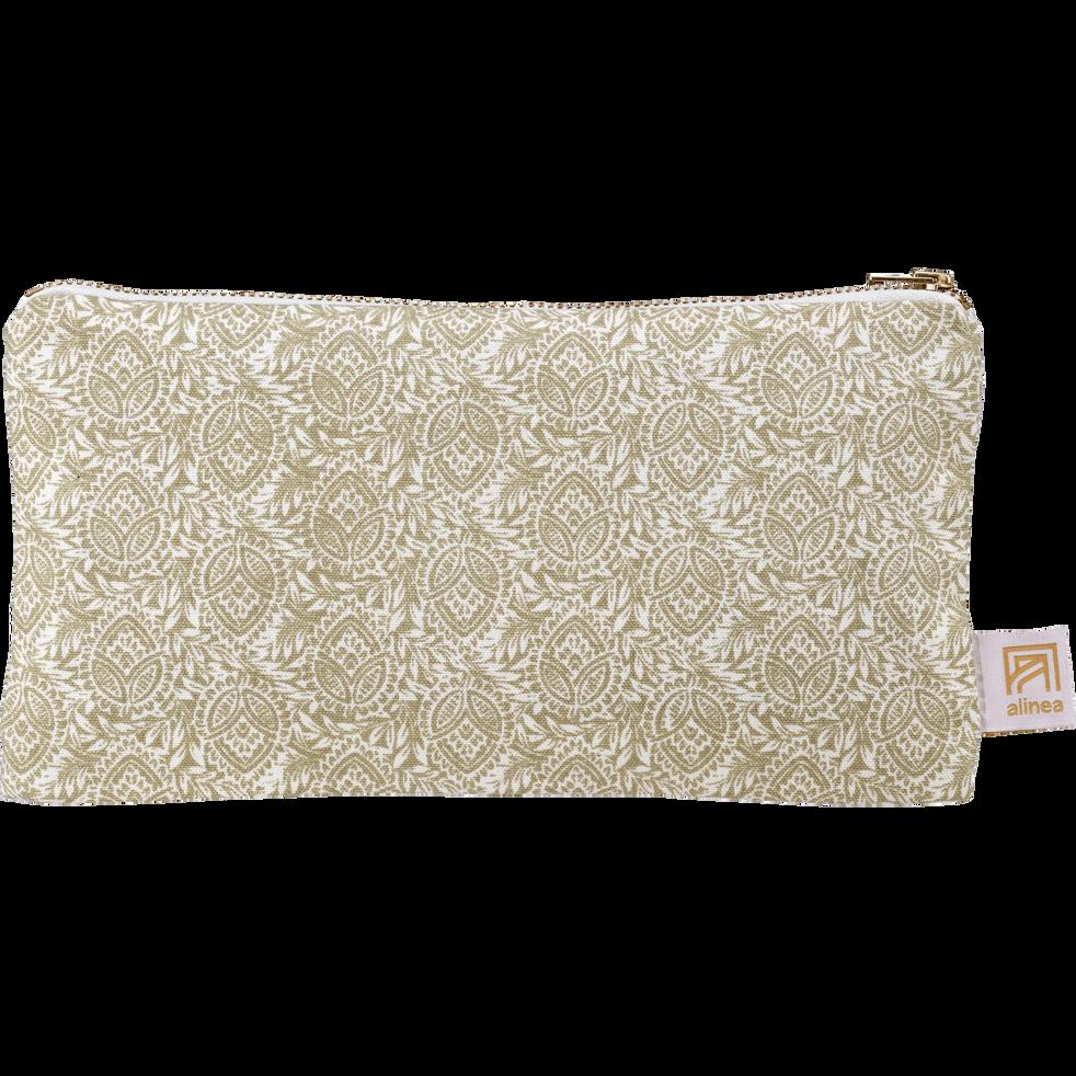 Pochette en coton amande-AMANDE