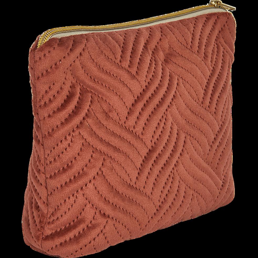 Pochette en coton marron-AMBRINE
