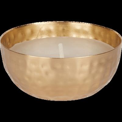 Bougie dorée martelée D11xH5cm-LUMEN