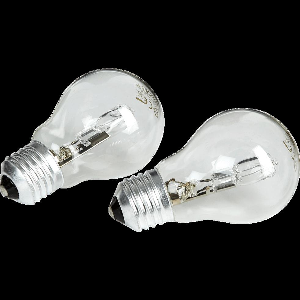 2 ampoules halogènes D6cm blanc chaud culot E27-STANDARD