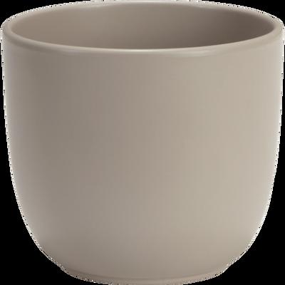 Pot taupe mat en céramique (plusieurs tailles)-TUSCA