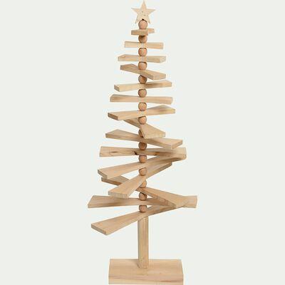 Arbre de Noël en bois de paulownia H120cm-ERD
