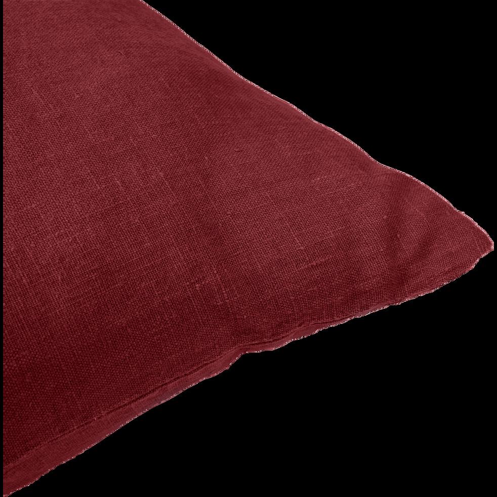 Coussin en lin lavé - rouge sumac 45x45cm-VENCE