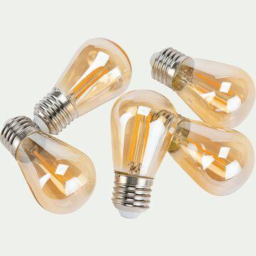 Ampoule LED culot E27 en lot de 5 - blanc chaud D5cm-AMPOULE