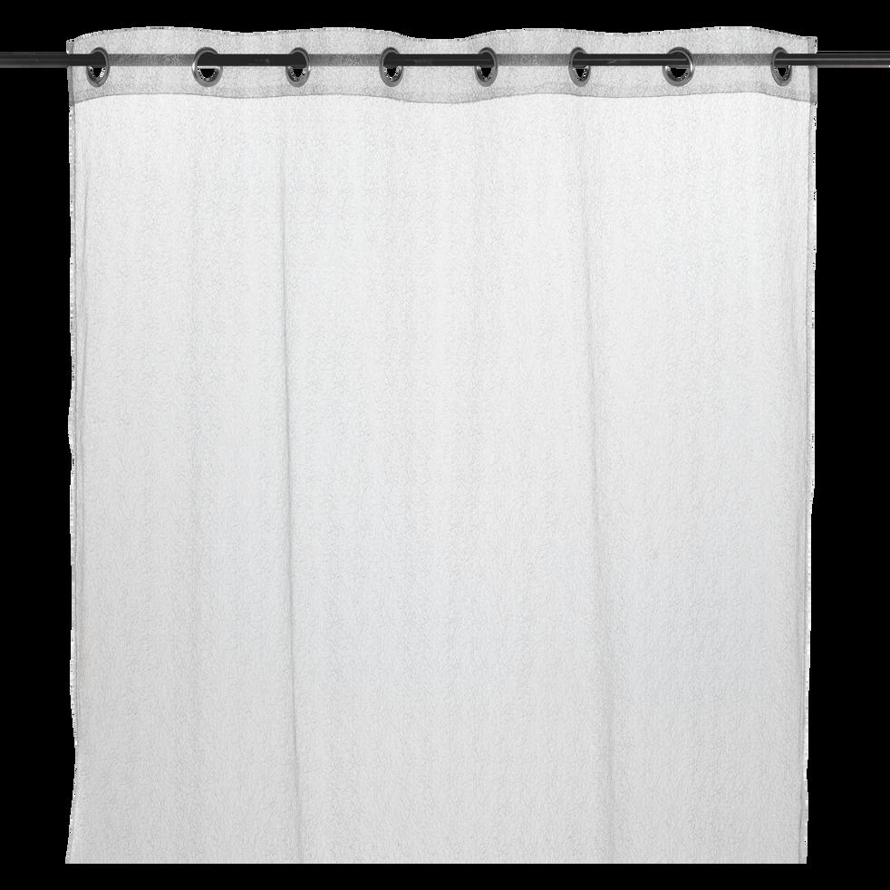 Voilage à œillets gris 140x250cm-SORMIOU
