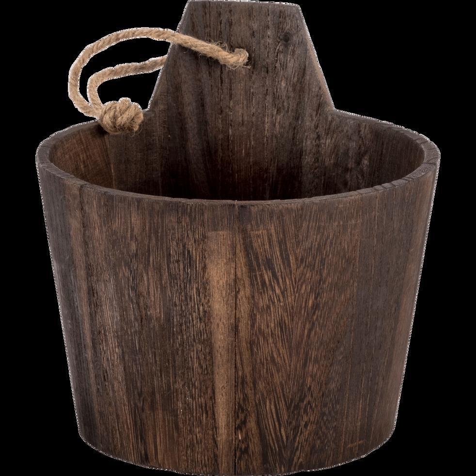 Sceau en bois de balsa foncé-RETZ