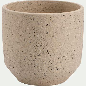 Pot en terre cuite - H18xD20cm blanc cassé-PENTA