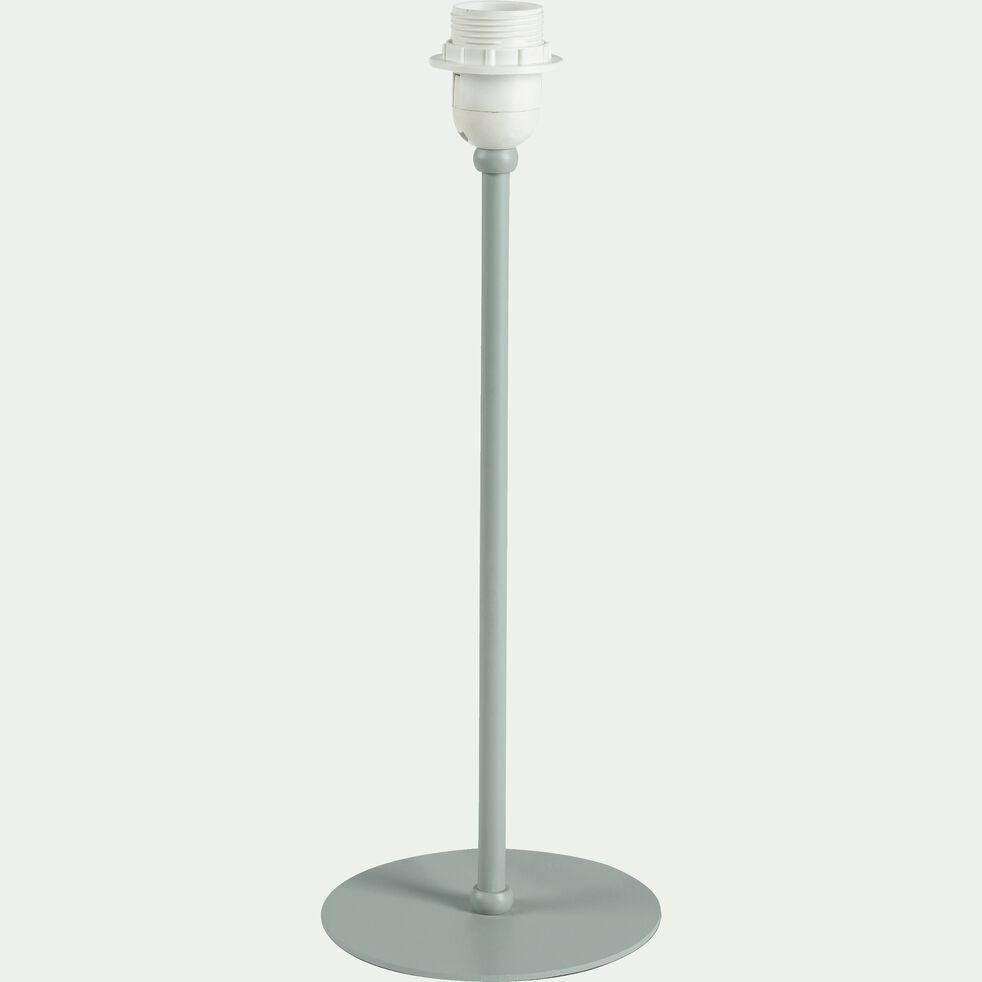 Pied de lampe en métal vert olivier H41cm-OLIVIO