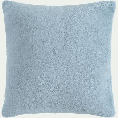 Housse de coussin effet polaire en polyester - bleu calaluna 40x40cm-ROBIN